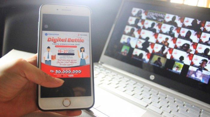 Telkomsel menghadirkan program inisiatif untuk mendorong semangat belajar pelajar SMA/K sederajat melalui program Digital Battle Youth Competition 2021 (D-BATE)