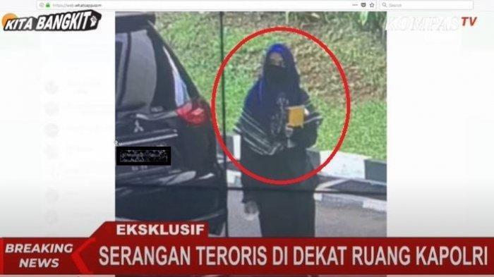 Terduga teroris yang menyerang Mabes Polri, Rabu (31/3/2021)