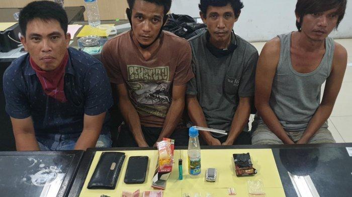 Anggotra Ditresnakoba Amankan Empat Pengedar Sabu-sabu di Kawasan Kampung Tangguh Anti Narkoba
