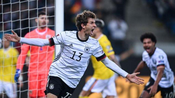 SKOR AKHIR Kualifikasi Piala Dunia 2020 Tadi Malam, Jerman 2 - 1 Rumania, Muller Cetak Gol Penentu