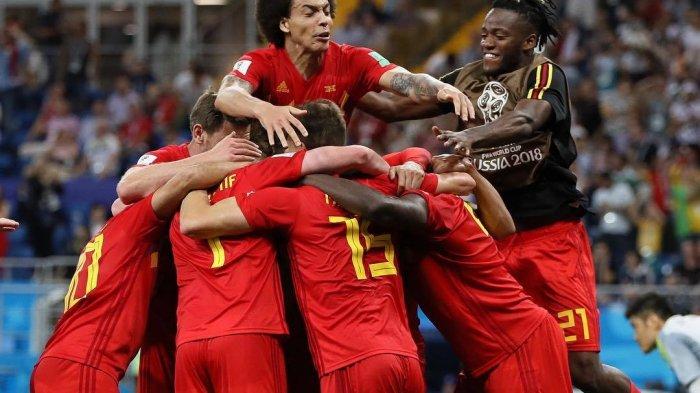 Tim Belgia merayakan kemenangan usai mengalahkan Jepang dengan skor 3-2. (instagram/fifaworldcup)