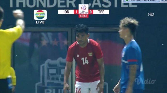 Hasil Babak Pertama Timnas Indonesia vs Taiwan Skor 1-0, Pemain Muda Persipura Cetak Gol