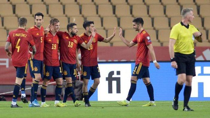 Timnas Spanyol meraih kemenangan 3-1 atas Kosovo pada laga ketiga Grup B kualifikasi Piala Dunia 2022 zona Eropa di Estadio de La Cartuja, Kamis (1/4/2021) dini hari WIB.