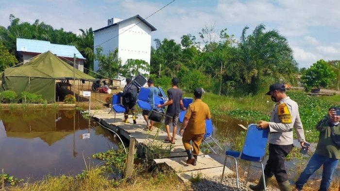 Banjir di Tanjabtim, Sejumlah TPS di Kecamatan Berbak Digeser