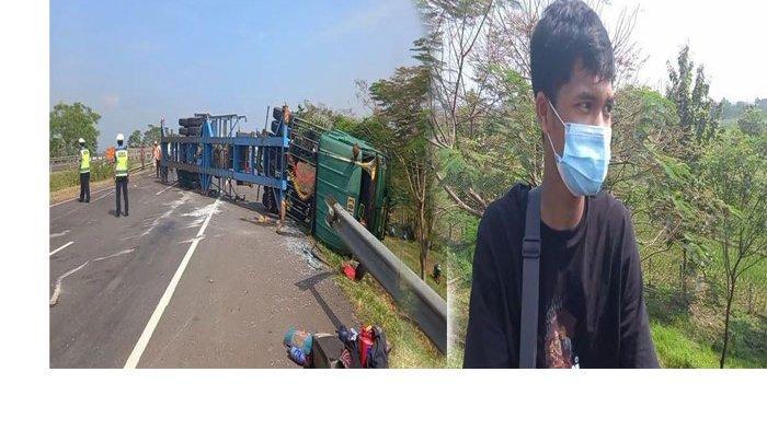 Nasib Niko Mudik dari Jakarta ke Tegal Numpang Truk Berakhir Terbalik di Tol Cipali