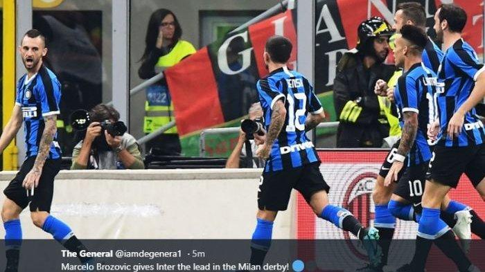 Marcelo Brozovic mencetak gol untuk Inter Milan