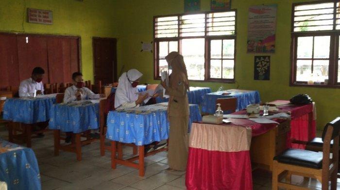 Masih Ada yang Abai Masker, Ujian Sekolah di Batanghari Digelar Tatap Muka