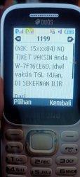 Undangan vaksinasi Covid-19 di Muarojambi via SMS.