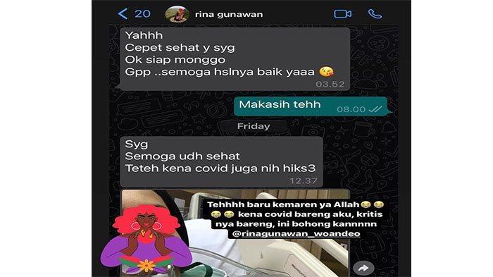 Unggahan Ashanty soal kabar Rina Gunawan yang positif Covid-19
