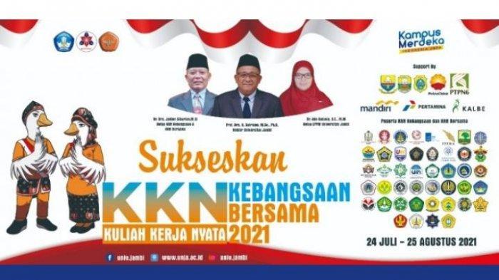 24 Juli 2021 Nanti Universitas Jambi Sebagai Tuan Rumah Siap Laksanakan KKN Kebangsaan