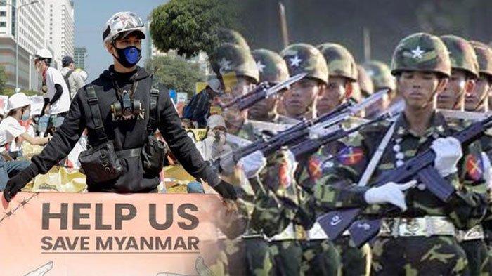 MYANMAR Makin Membara, 70 Orang Warganya Tewas Lawan Junta Militer yang Kudeta Pemerintahan Sah