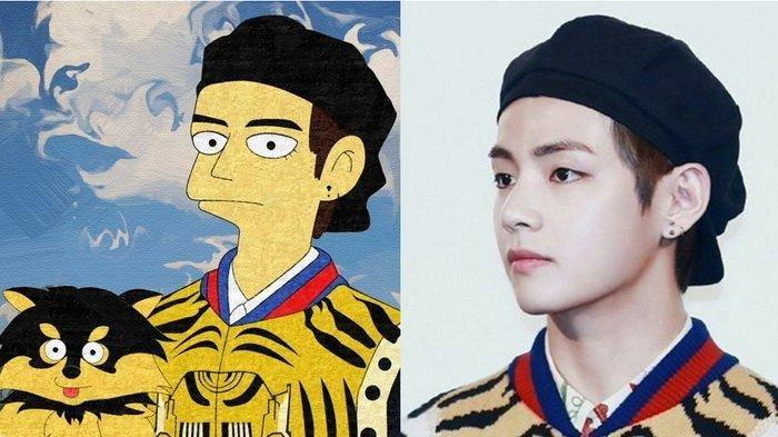 V BTS Ternyata Diidolakan Idol KPop Dongkyu Spectrum, Sampai Gambar Karakter Vimpson Untuk V