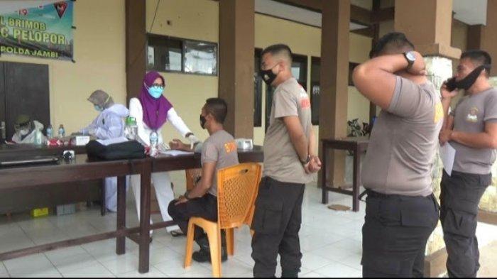Sebanyak 58 Anggota Brimob Batalyon C Tebo Sudah Divaksin Astrazeneca