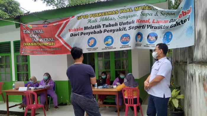 Capaian Tervaksinasi di Puskesmas Paal Merah I Ribuan Orang, KTP Bukan Kota Jambi pun Diterima