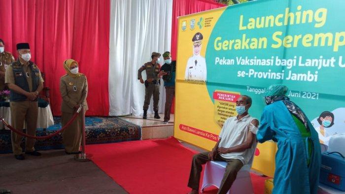 Vaksinasi Lansia di Provinsi Jambi Ditarget Meningkat 10 Persen