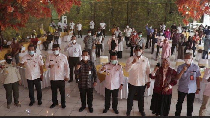 OJK & Bank Indonesia, BMPD, FKIJK, Pemkot Jambi & Pemprov Jambi Gelar Vaksinasi Lanjutan Sektor IJK