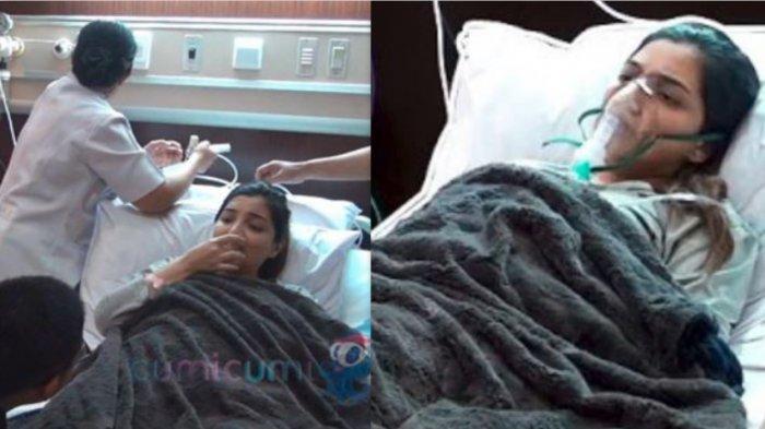 Ashanty saat terbaring lemah di Rumah Sakit, hingga dikabarkan meninggal dunia