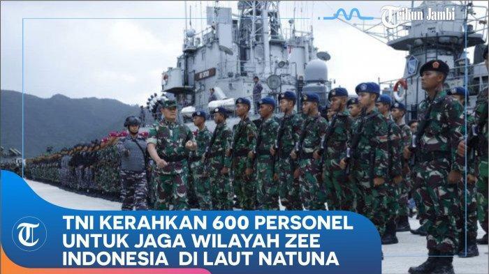 TNI AL Siap Tempur di Laut, 600 Prajurit & 5 Kapal Perang Dikirim ke Natuna, 18 Kali Operasi Siaga