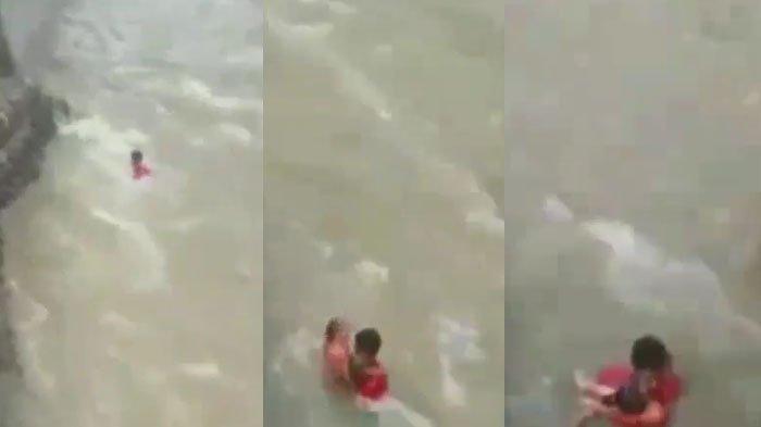 VIDEO Viral Pemuda Solok Selatan Nekat Lompat ke Sungai Deras Selamatkan Bocah 3 Tahun yang Hanyut