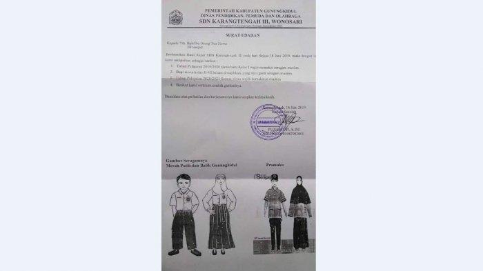 Viral Surat Edaran SD Negeri di Gunung Kidul, Siswa Baru Wajib Pakai Seragam Muslim