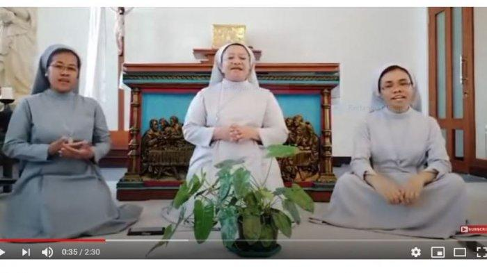 VIDEO Viral Tiga Suster Katolik Nyanyi Lagu Idul Fitri, Ganjar Pranowo: Suaranya Bagus, Makasih Ya