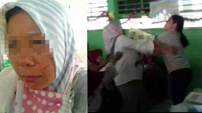 FAKTA-FAKTA Video Viral Ibu Guru Dikeroyok Wali Murid di Dalam Kelas, Pelajaran Masih Berlangsung