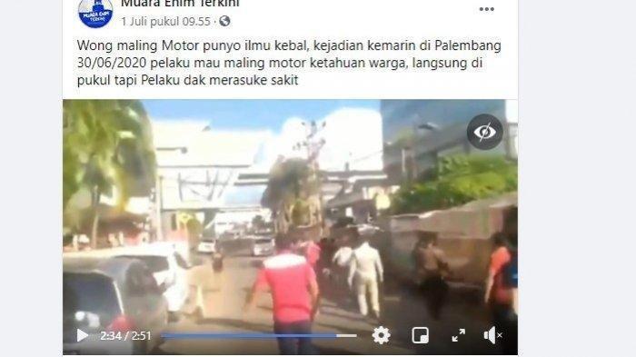 Santai Dihajar Massa Dikira Kebal, Ternyata Maling Motor di Palembang Ini Hanya Menggunakan Narkoba