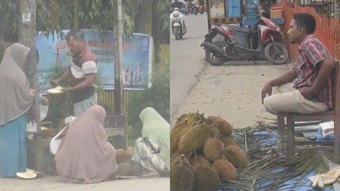 Viral Video Pedagang Durian Bengong Cuma Bisa Nonton Saingannya Sangat Larisi Pembeli, Elus Dada