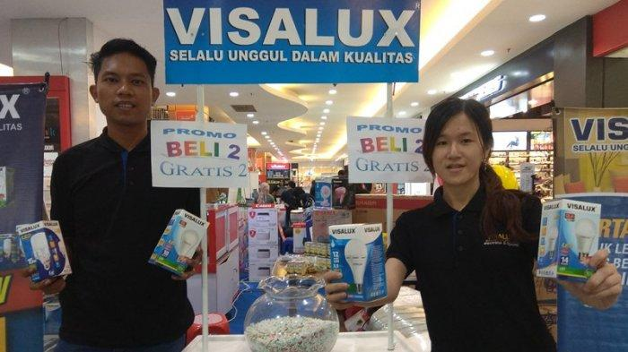 Promo Visalux di Tribun Great Expo 2018 Beli Dua Gratis Satu, Undian Hadiah Utama TV LED 32 inci