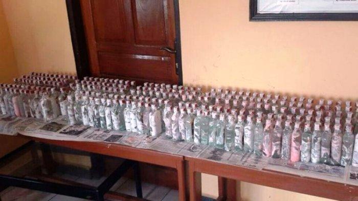 Razia Satresnarkoba Polresta Jambi - 432 Botol Colombus Whisky Disita di Jambi Selatan