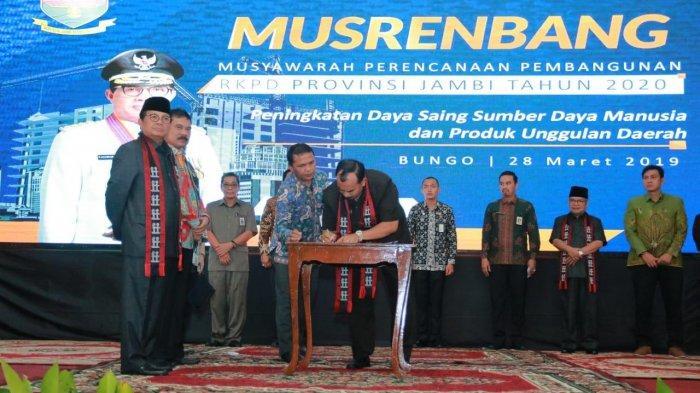 Musrembang Tingkat Provinsi di Bungo, Wabup Singgung Komitmen Gubernur Soal Jalan Teluk Nilau-Tebing