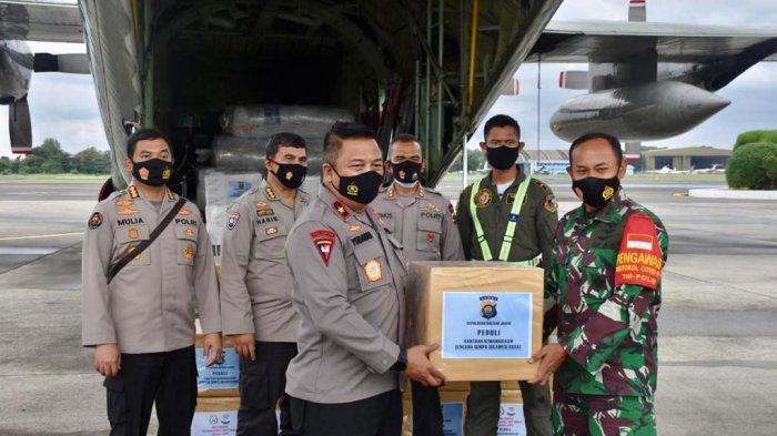 Polda Jambi Melepas Bantuan Sosial (Bansos) Peduli Bencana Gempa Bumi Sulbar & Banjir Kalsel