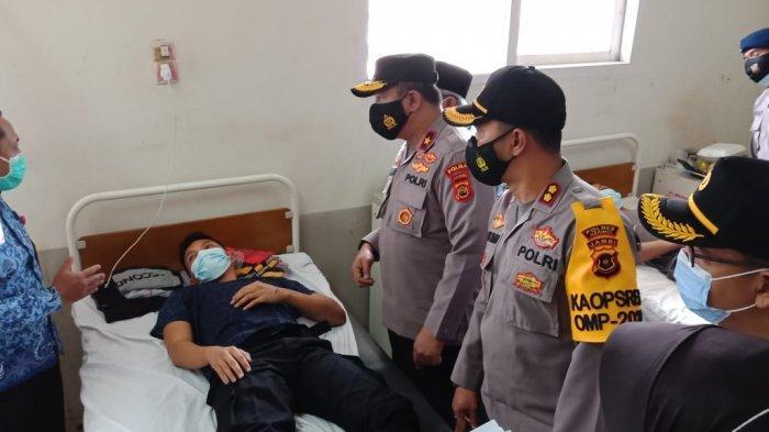 Puluhan Anggota Brimob Dirawat di RS H.A.Thalib Kerinci, Wakapolda Jambi Jenguk BKO Polda Sumsel