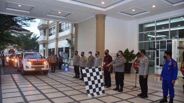 Wakapolda Jambi Lepas 450 Paket Baksos untuk Warga Kota Jambi Terdampak Covid-19