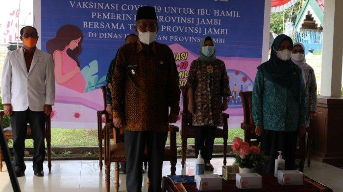 Wakil Gubernur Jambi Abdullah Sani Hadiri Pencanangan Vaksinasi Covid-19 Bagi Ibu Hamil