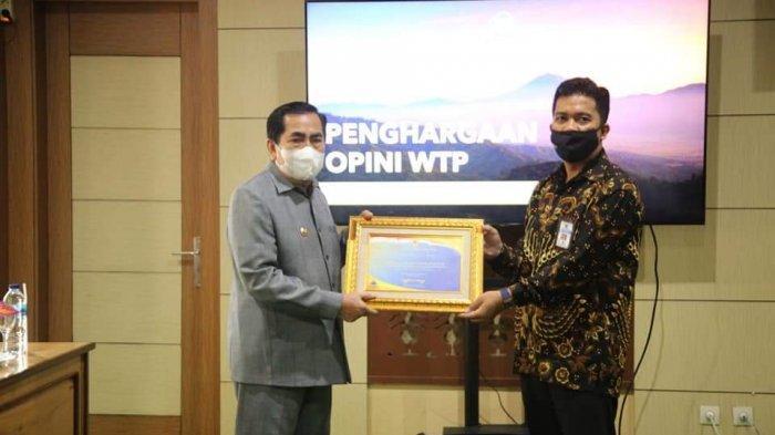 Wako AJB Terima Piagam WTP Dari Menteri Keuangan RI, di Jambi Ada Lima Pemda Meraih WTP