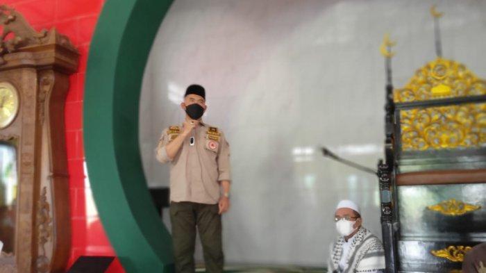 Wali Kota Jambi Syarif Fasha ikut hadir di Masjid Muhammad Cheng Ho.