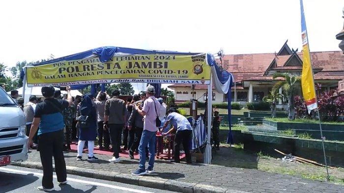 Hari Lebaran Keempat, Wali Kota Jambi Cek Pos Pengamanan Idul Fitri
