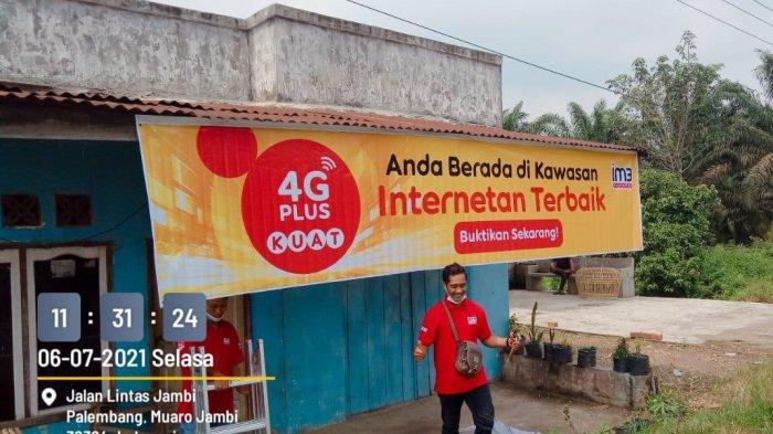 Warga Desa Tanjung Pauh Km 32 Mestong Lancar Internetan dengan Sinyal 4G Plus IM3 Ooredoo