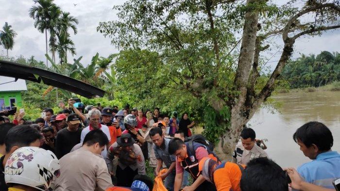 Korban Hanyut Terseret Arus Sungai Batang Tebo 47 Km, Ditemukan sudah Tak Bernyawa