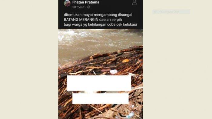 BREAKING NEWS Heboh Penemuan Mayat Mengapung di Sungai Batang Merangin Kerinci