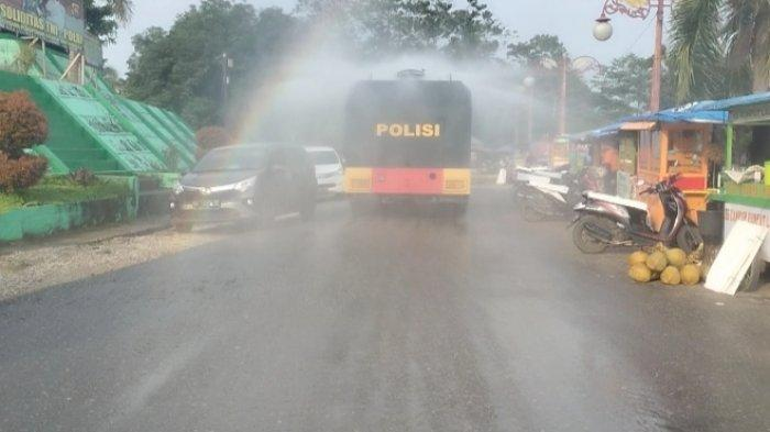 Prokes Makin Hari Makin Minim di Sarolangun, Polres Gunakan Water Cannon Semprot Desinfektan