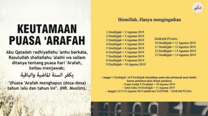 Bacaan Niat Puasa Sunah, Selasa 5 Dzulhijjah 1440 Hijriah, Jelang Idul Adha, Klik di Sini!