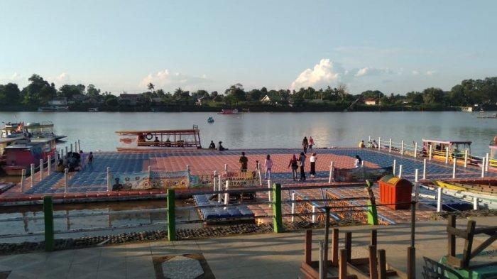Wisata Danau Sipin Sore Hari Saat Ramadhan Terpantau Lengang