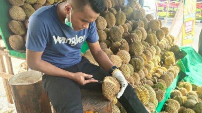 Wisata Kuliner di Kota Jambi, Nikmati Buah Durian Sepuasnya di Lapak Angga Durian
