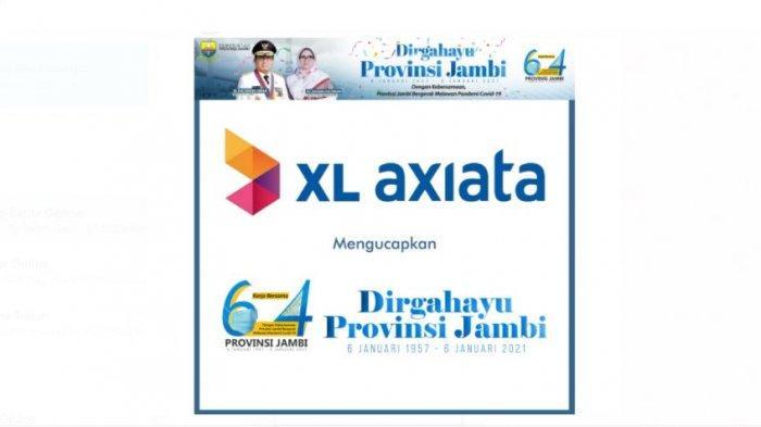 XL AXIATA mengucapkan DIRGAHAYU KE-64 PROVINSI JAMBI