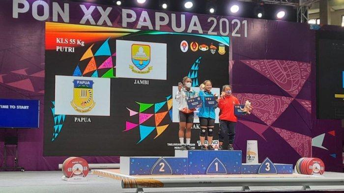 BREAKING NEWS Atlet Putri Jambi Cabor Angkat Besi Raih Emas di Ajang PON XX Papua