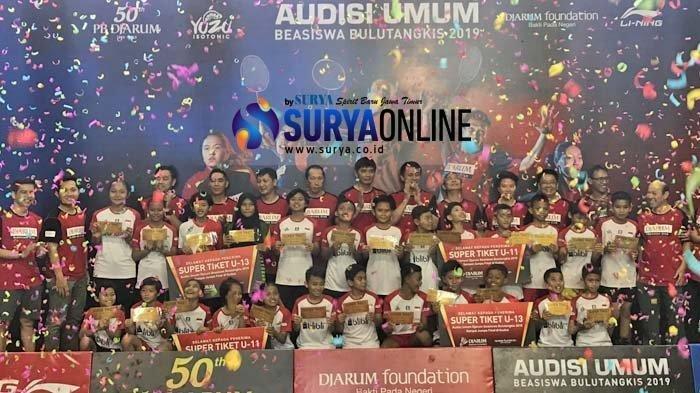 Audisi Umum Beasiswa Bulutangkis PB Djarum 2019, 26 Peserta Lolos di Surabaya