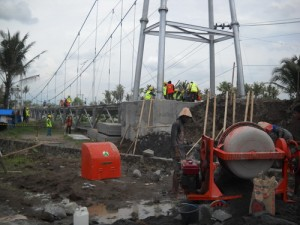 Pembangunan Jembatan Gantung Penghubung Patebon-Cepiring Dilanjutkan Lagi, Oktober Sudah Fungsional