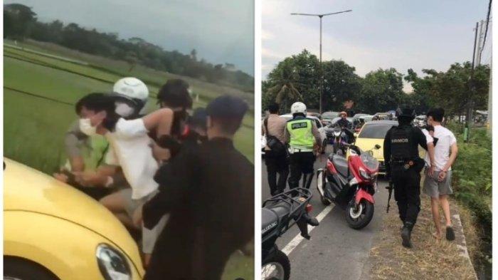 Detik-detik Remaja Pengemudi VW Kuning Diciduk Brimob di Jalan, Meronta-ronta dan Menangis